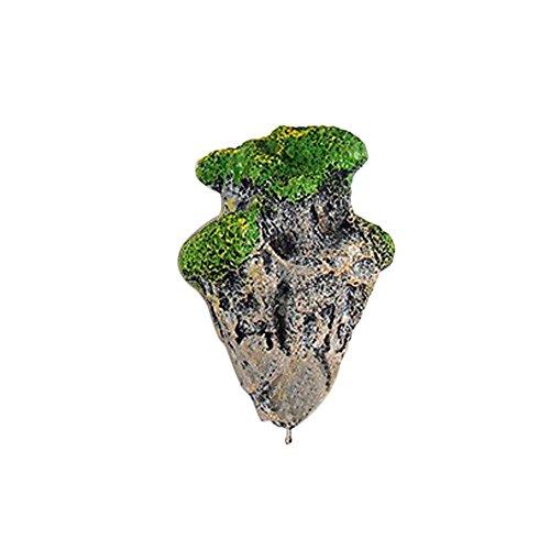 Berrose Simulation Schwimmender Stein Aquarium Landschaftsgestaltung Dekoration Schwimmende wirkliche Felsen Wasserpflanze Wasserlandschaft