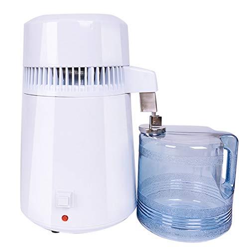 4L Pure Water Distillers Für Die Home-Wasseraufbereitungssystem Filter Wasser Distiller Innenwand Aus Edelstahl Wasserdestillation Destilliertes Wasser Maschine Mit Sammelflasche 750W,220v