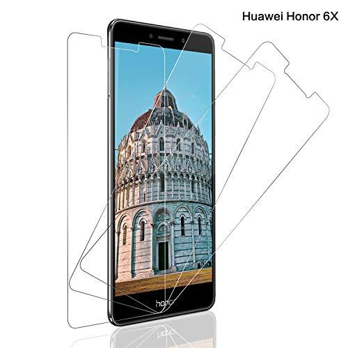 Schutzfolie für Huawei Honor 6x Panzerglas [3 Stück], 9H Härte Panzerglasfolie Displayschutz für Honor 6x, Anti-Kratzen Schutzglas, Ultra Klar, Bläschenfrei, Huawei Honor 6x Displayschutzfolie