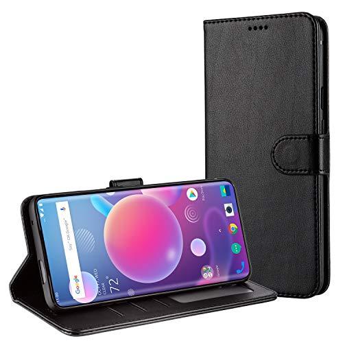 TAMOWA Handyhülle für OnePlus 7 Pro Hülle, Leder Flip Handyhülle Schutzhülle Tasche für OnePlus 7 Pro [Kartenfach] [Standfunktion] [Magnetverschluss], Schwarz