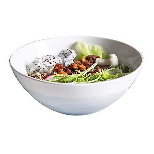 XiYou Cuenco de cerámica para el hogar Coreano Creativo vajilla pequeña Cuenco de arroz Grande Cuenco de Sopa Cuenco Grande río de montaña (Azul)