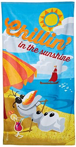 Disney congelado 140 x 70 cm Olaf Chillin en el Sunshine La playa y toalla de baño
