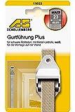 Schellenberg Plus Maxi 11033 - Guía para correa de persiana, color blanco