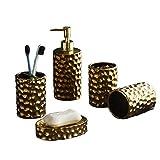 ZSIF Accesorios de baño Set de 5 cerámica de Materiales, artículos de Aseo Copa Conjunto, for Personal de Limpieza Cuidado Higiene, Aseo, Hotel, Cuarto de baño Decoración
