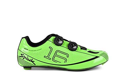 Spiuk 16 Road Carbono - Zapatillas unisex, color verde, talla 46