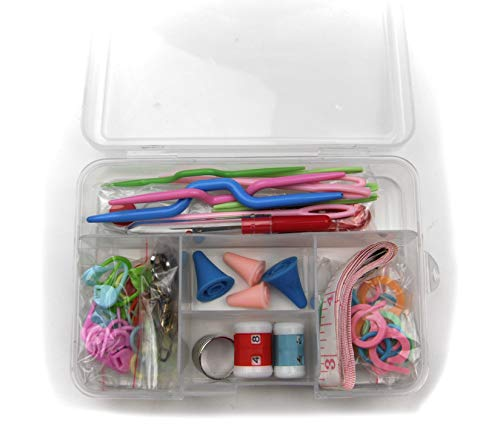 All In One Knitting Crochet Accessory Tool Kit with Case