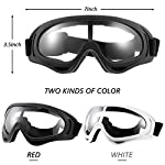 Frienda 4 Pairs Protective Goggles Safety Glasses Eyewear for Teens Game Battle Hiking and Sand Prevention (Black, White) Size