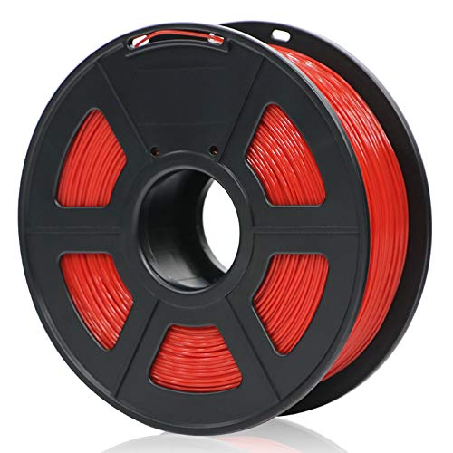 ANYCUBIC PLA 3D Drucker Filament, Toleranz beim Durchmesser liegt bei +/- 0,02mm, 1kg Spule, 1.75mm für 3D-Drucker und 3D-Stifte,Verschiedene Farben (Rot)