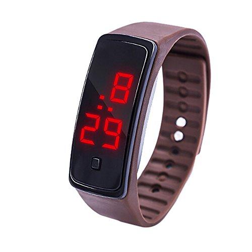 NEEKY Herren Smartwatch Display,watch uhr,Fitness Armband Mit Silikon -Armband,Watch Uhr LED Sportuhr,Fitness Armband Unisex Silikonband Armbanduhren