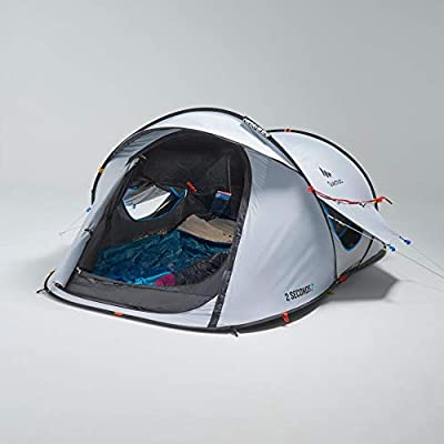 Quechua by Decathlon 2 Second Fresh & Black 2-Person Waterproof Pop-up Camping Tent