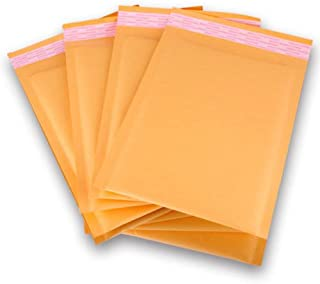 """250 Count #000 4 x 8 Inch Oknuu Packaging Supplies Kraft Bubble Mailers Self-Sealing Shipping Envelopes Plastic Mailing Bags 4""""x8"""" KBM000 4""""x7"""" Inner Size (250 Pack)"""