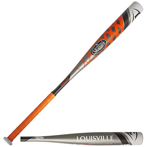 Wilson Bate de béisbol juvenil Louisville Slugger, Uso recreativo, 32' de largo, LS ARMOR, Aleación, Plata/Naranja, WTLSLAR158I32