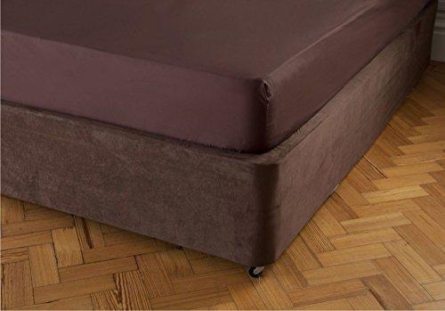 Cubre canapé de lujoso ante sintético de Belledorm, chocolate, king size