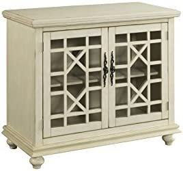 Martin Svensson Home Small Spaces 2 Door Accent Cabinet TV Stand 38 W x 32 H Antique White product image