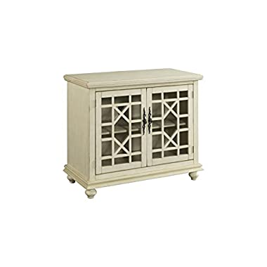 Martin Svensson Home 91033 Small Spaces 2-Door Accent Cabinet-TV Stand, 38  W x 32  H, Antique White