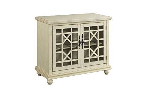 Martin Svensson Home Small Spaces 2-Door Accent Cabinet - TV Stand, 38' W x 32' H, Antique White