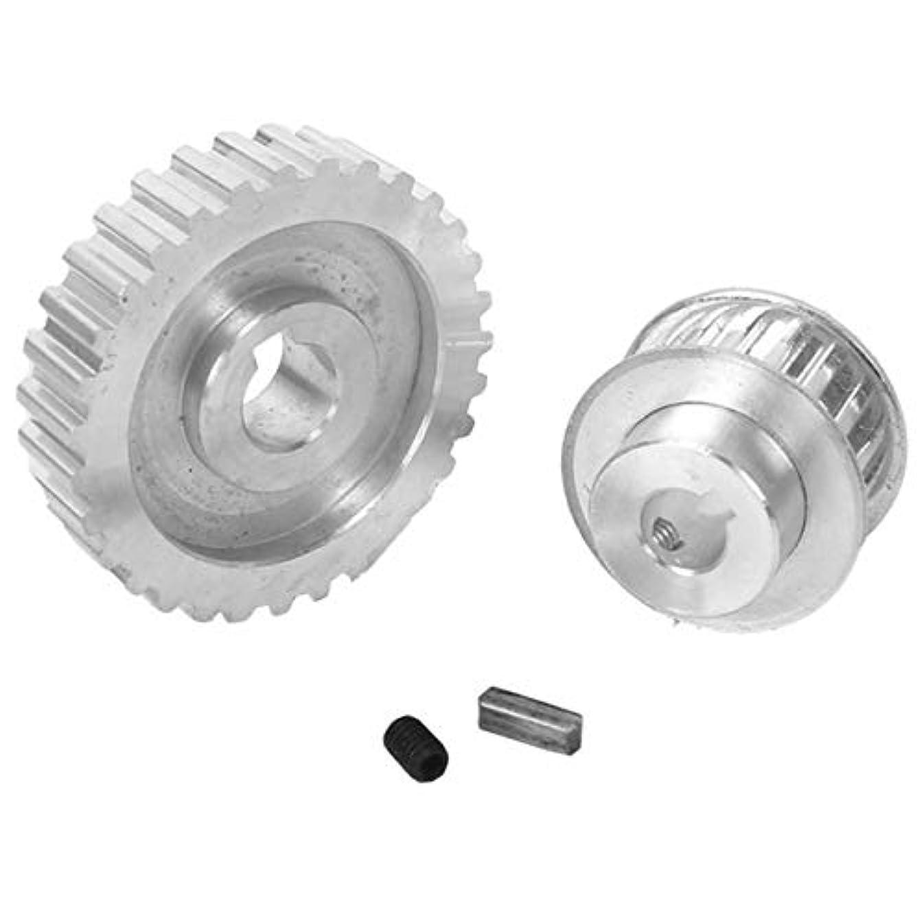 石鹸返還伝導TOP 2個機械歯車、色の金属切削同期プーリーギアモーターベルトギアドライブホイールギアS/N Cj0618ミニ旋盤歯車メタル:銀 (Color : Silver)