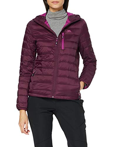 Trespass Arabel, Potent Purple, M, Ultraleichte Warme Kompakt Zusammenfaltbare Daunenjacke 80% Daunen für Damen, Lila / Violett, Medium