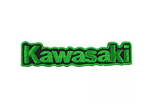 MAREL Patch KAWASAKI MOTO RACING Thermo-Klebe-Stickerei Patch 9,7x2cm Replikat-1270