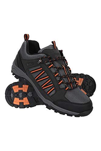 Mountain Warehouse Zapatillas Path para Hombre - Zapatillas Impermeables para el Gimnasio, Botas de montaña con Forro de Malla y Gran Agarre - para Agarre y Estabilidad Negro 44