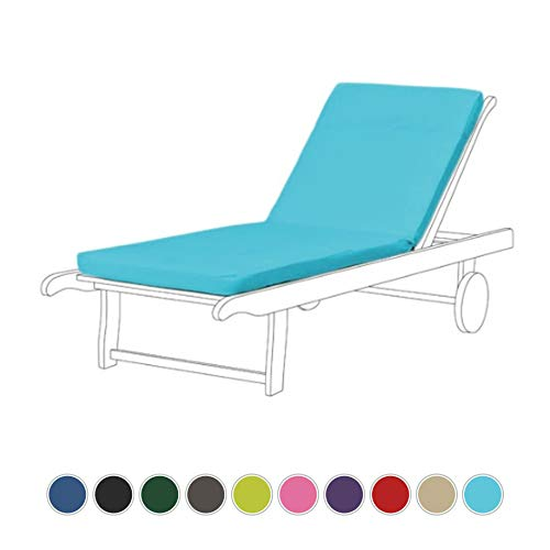 Turquoise Water Resistant Lounger Pad for Resol Master and Marina Sun Lounger
