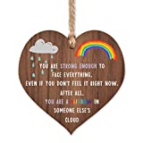 Rainbow gifts | Rainbow in someone else's cloud | thinking of you - miss you gifts for best friend Keyworker | cheer up gifts | inspirational gifts for women