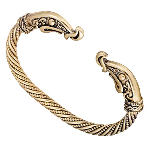 Dragon Bracelets For Women Accessories Screw Nail Bangle Punk Gothic Charm Knot Viking Bracelet Men Gold-color Jewelry