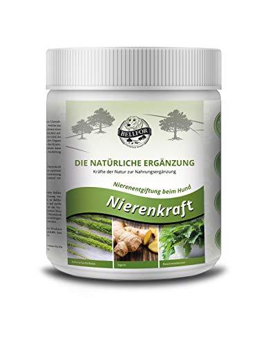 Bellfor Nahrungsergänzung für Hunde Nierenkraft - Pulver, Unterstützung die Entgiftung der Nieren - 250g