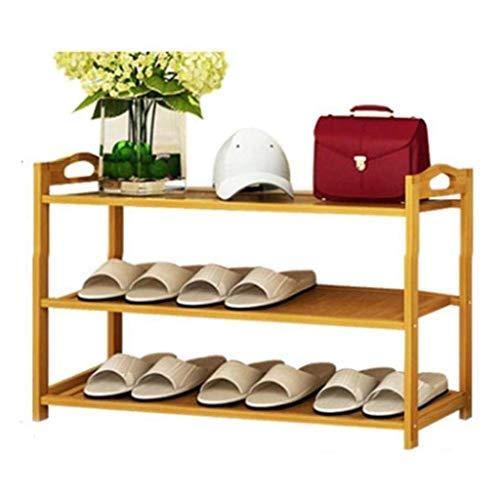 Diaod Dormitorio Estante del Zapato, Zapato Gabinete, Multi-Capa Que Ahorra Espacio Madera sólida del Dormitorio Simple Zapatero