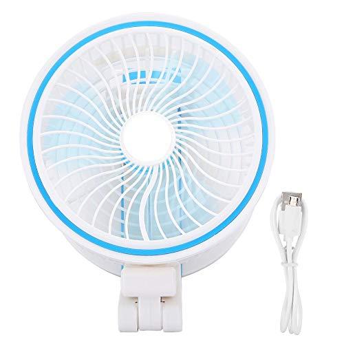dgtrhted Mini Ventilador silencioso Recargable USB de Escritorio portátil Plegable luz Nocturna LED
