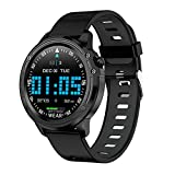 VBF Smart Watch, L8 Uomo, IP68 Impermeabile, Smartwatch ECG Pressione del Sangue Frequenza Cardiaca Sport Fitness PK L5 L9,A
