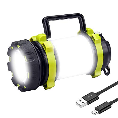Rechargeable Camping Lantern, COSOOS Bright LED Lantern Flashlight with 6 Light Mode, Built in 3600mAh battery, Water Resistant Flashlight Perfect for Camping, Hiking, Power Outage, Hurricane.