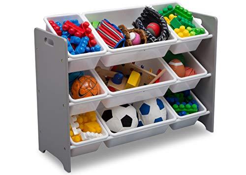Delta Children MySize 9 Bin Plastic Toy Organizer, Grey