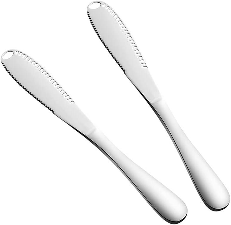 2 PCS Stainless Special price Steel Alternative dealer Butter Multifunctional But Knife Spreader