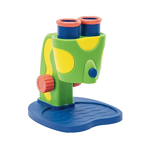 Educational Insights GeoSafari Jr. My First Microscope, Extra-Large Dual Eyepieces, Preschool STEM Toy, Ages 3+