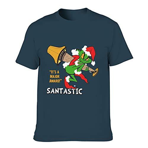 Grinch Herren-T-Shirt aus Baumwolle, strapazierfähig, Übergröße, kurzärmelig Gr. M, navy