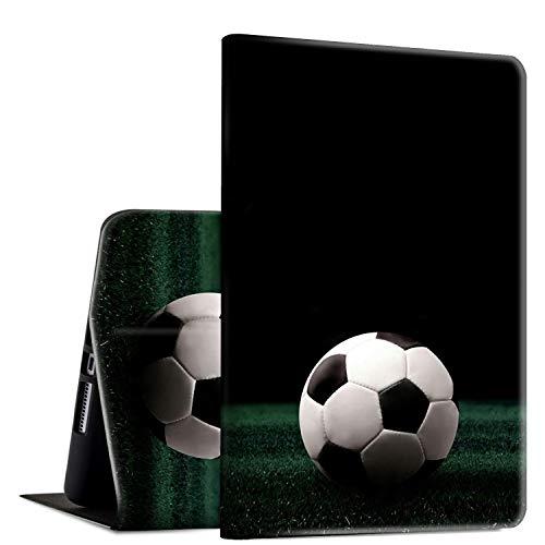 Funda para Galaxy Tab E 9.6, SM-T560/T561/T565, funda Rossy Folio con funda ajustable a prueba de golpes para Samsung Galaxy Tab E 9.6 pulgadas, pelota de fútbol