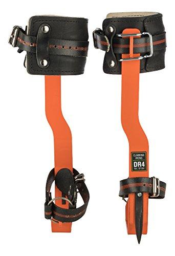 Treeup Steigeisen DR-4 Baumsteigeisen Kletterhilfen Forstzubehör (neon orange)
