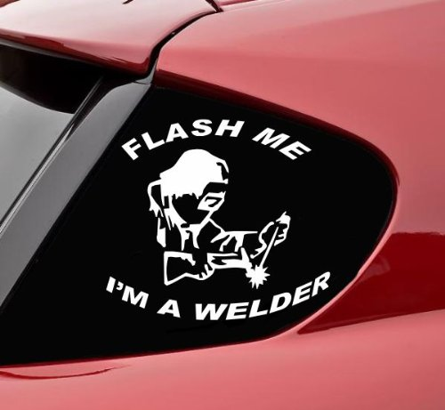 Welder bumper sticker gift ideas for welders