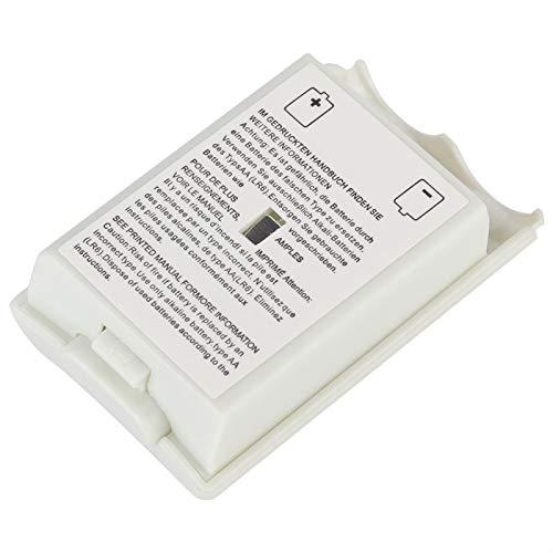 Cubierta de batería de 5 Piezas, Carcasa de batería Universal, Cubierta de batería del Controlador, con Buena Resistencia a la abrasión(White)