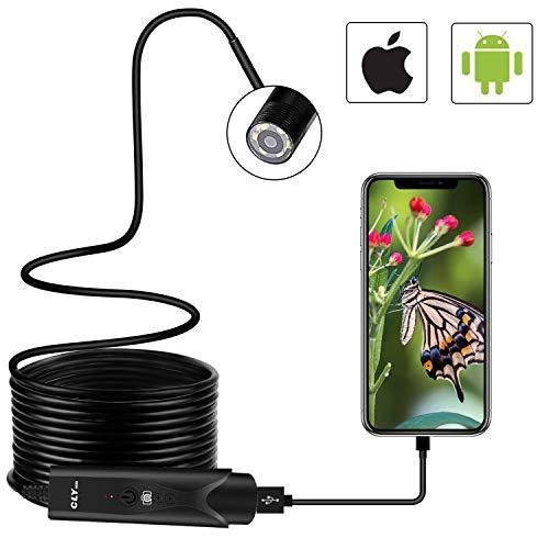 Endoscopio CLY Endoscopio USB Android/Iphone Cámara de Inspección CMOS HD de...