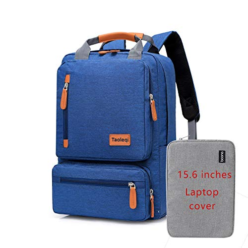 Laptop Bag Backpack Casual Men Laptop Backpack 15.6 Inch School Bag New Waterproof Oxford Girl Gray Anti-Theft Travel Woman Backpacks Darkbluelaptopcover Free Fast Delivery