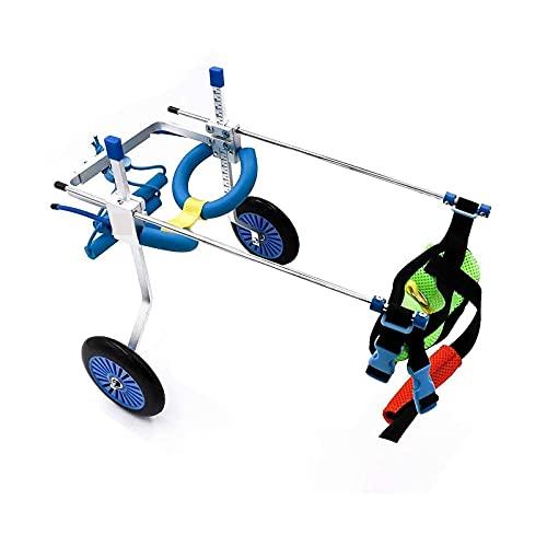 Carro de acero inoxidable para mascotas, silla de ruedas para mascotas, silla de ruedas ajustable, para reparación de patas traseras de perros y gatos discapacitados, soporte de patas traseras para si