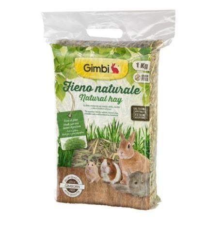 GIMBI Fieno Naturale Offerta 4 Sacchi da 1 kg