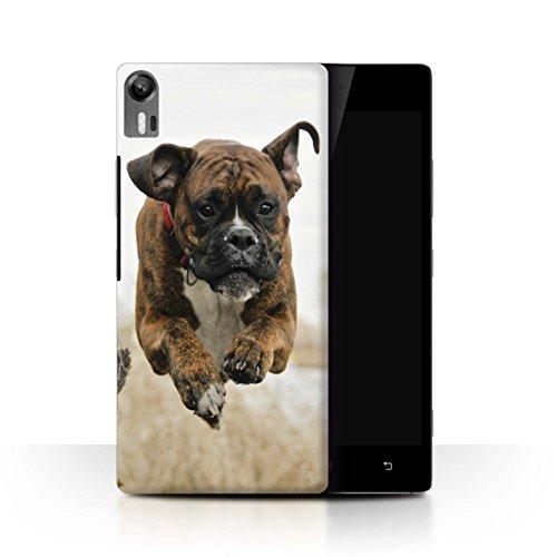 Handy Hülle kompatibel mit Lenovo Vibe Shot/Z90 Beliebter H&/Eckzahn Rassen Boxer Transparent Klar Ultra Dünne Handyhülle Hülle Cover