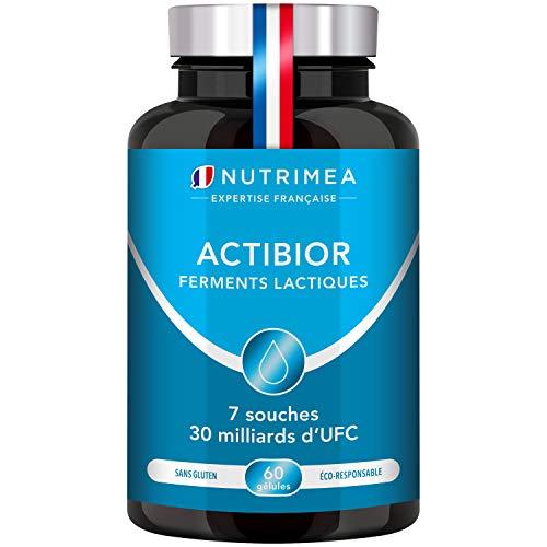 Ferments Lactiques | Formule unique | Fabriqué en France | Améliore le Microbiote et la Digestion | 7 souches ciblées | Immunité | 60 gélules végétales gastro-résistantes | Nutrimea