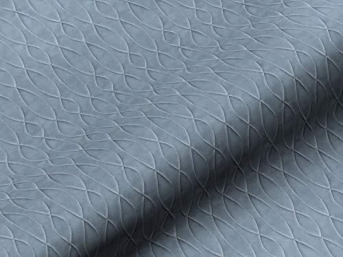 Dobladillo & Viebahn GmbH & Co. Telón tela, diseño abstracto, color azul, tela de alta calidad por metros, para cortinas, opaco