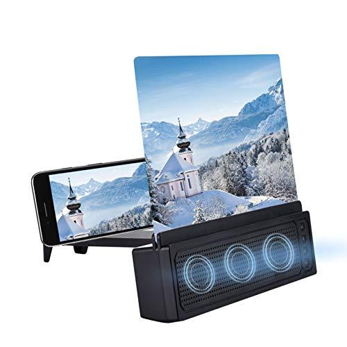 Xuanshengjia Amplificador De Pantalla De Teléfono De 12', Amplificador De Pantalla Curva HD De Teléfono Celular 3D para Películas, Videos, Juegos, Compatible con La Mayoría De Los Teléfonos
