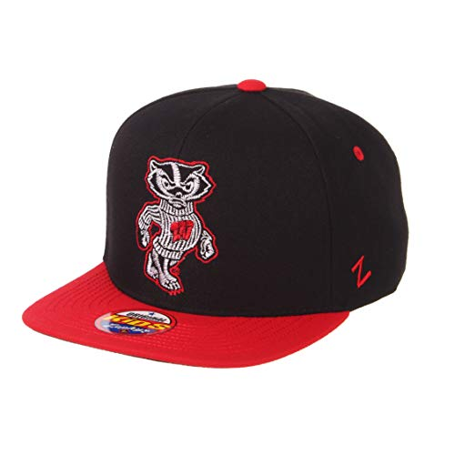 NCAA Zephyr Wisconsin Badgers Youth Halftime Kid Hat, Youth Adjustable, Black