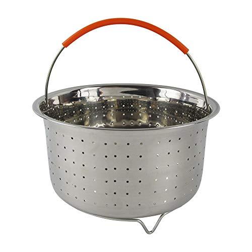 Instant Pot Steamer 6 quarts instant pot accessoires-convient pour INSTDE pression cuiseur-304 vapeur en acier inoxydable inséré avec poignée recouverte de silicone